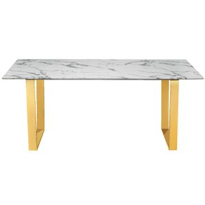 Vonnie Marble Dining Table by Everly Quinn