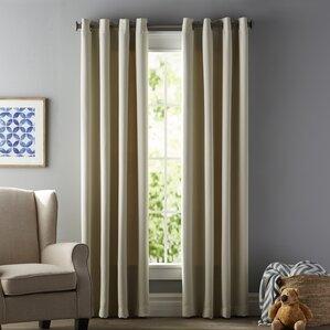 Modern Ivory & Cream Curtains + Drapes | AllModern