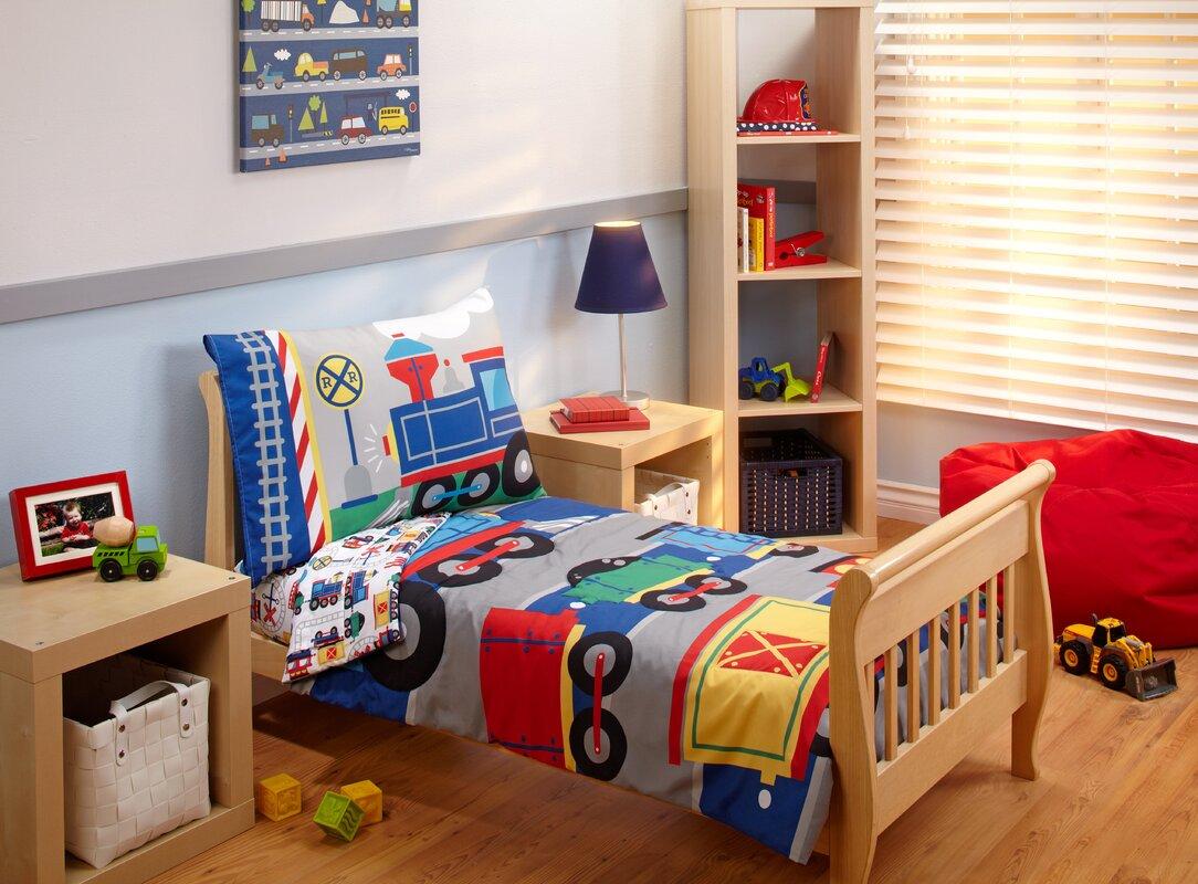Kailee Choo Choo 4 Piece Toddler Bedding Set
