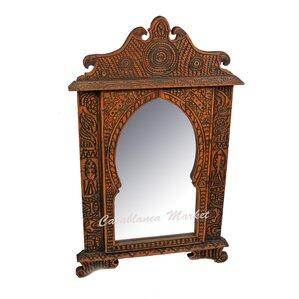 Brown Wall Mirror orange mirrors you'll love | wayfair