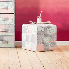 Pouf Patchwork Powder von KARE Design
