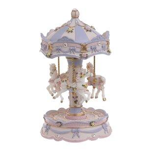 Spieldosen Karussell mit musik bemahlt H.17cm