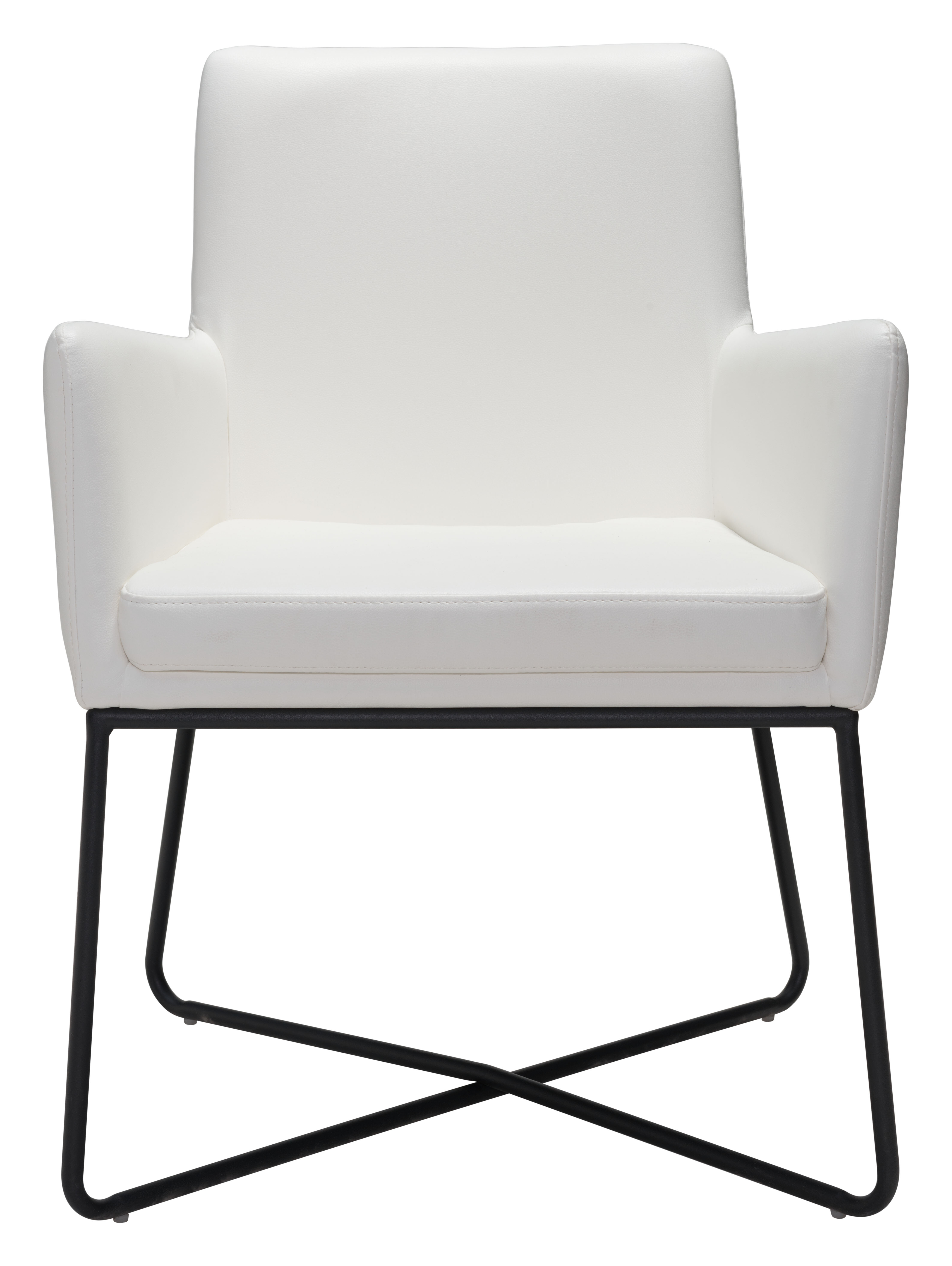 White Accent Chairs Used.Justine Dining Arm Chair