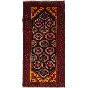 Bilbo Hand Knotted Oriental Red Area Rug