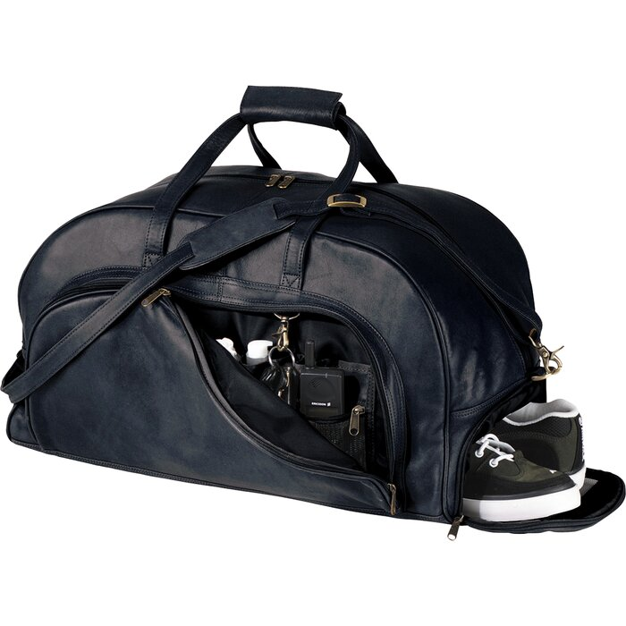 05f2e67d4a1 Royce Leather Full Grain Cowhide Travel Duffel Bag with Shoe Compartment