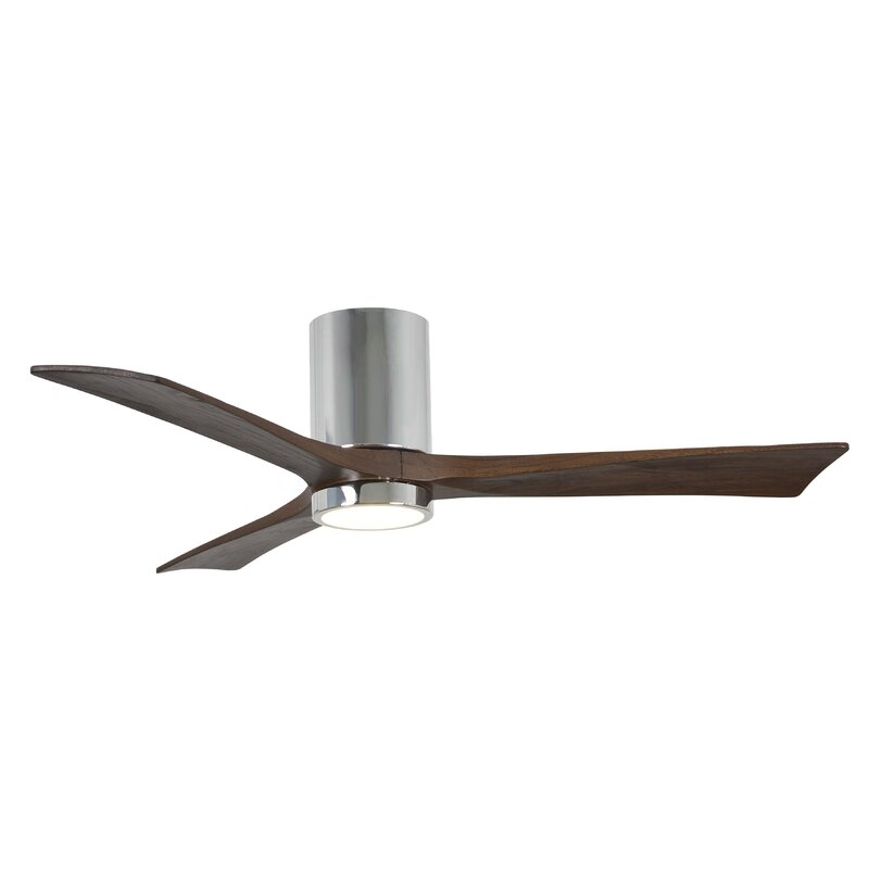 "52"" Rosalind 3 Blade Hugger Ceiling Fan With Wall Remote"
