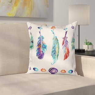 Ordinaire Bohemian Indian Feather Hippie Square Pillow Cover