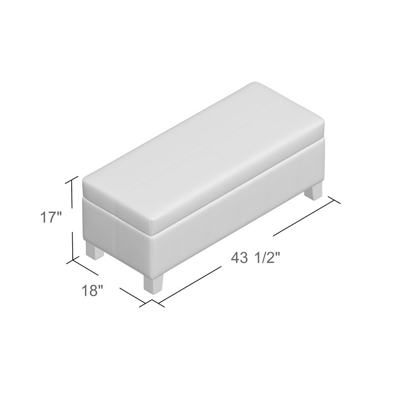 Alcott Hill Varian Upholstered Storage Bedroom Bench: Alcott Hill Kickemuit Upholstered Storage Bench & Reviews