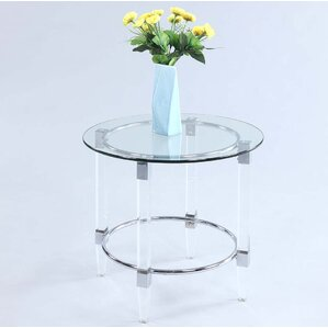 Se?n Round Glass Lamp Table Top by Orren Ellis