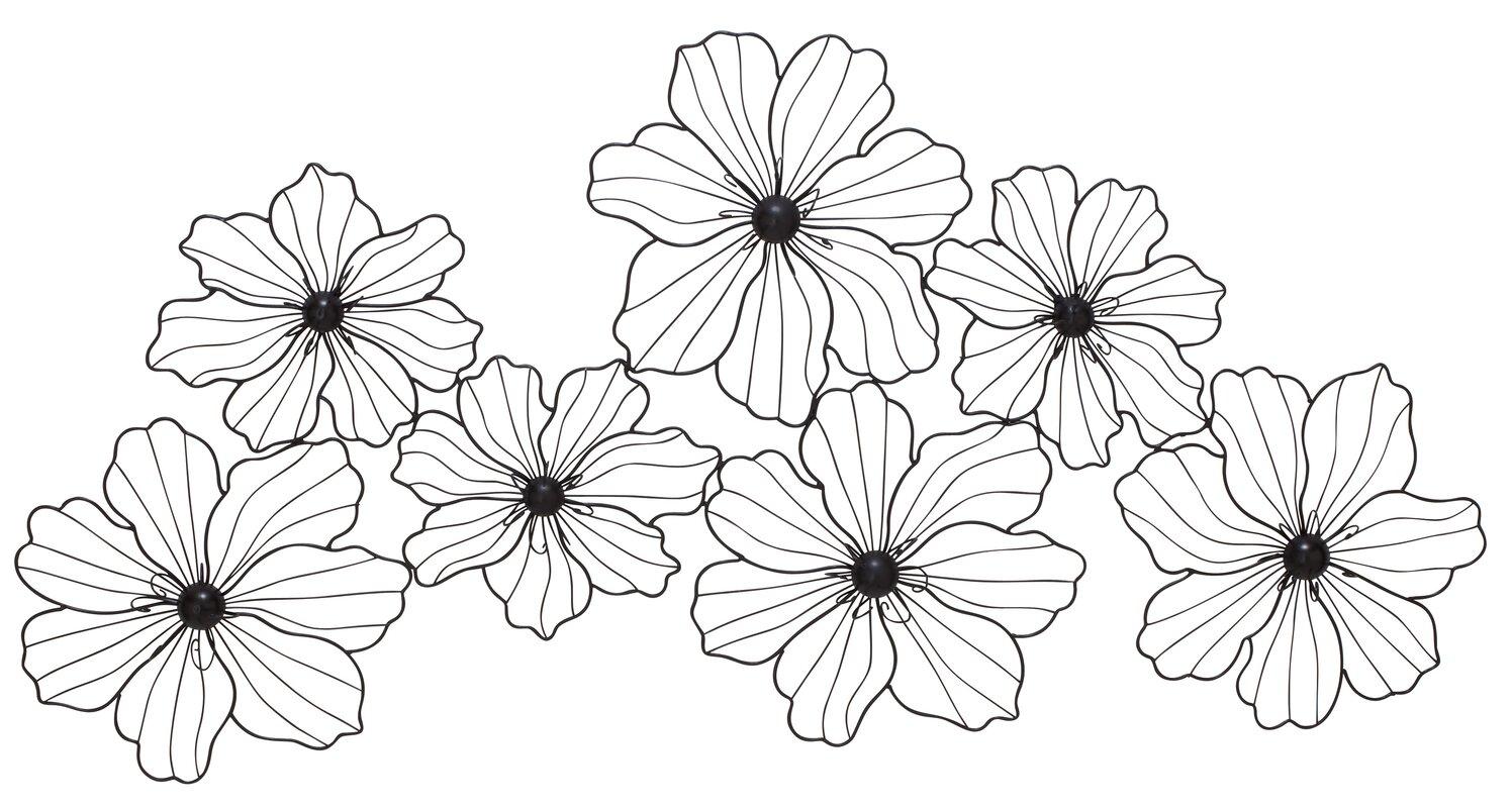 Latitude Run Flowers Metal Wall Decor & Reviews | Wayfair