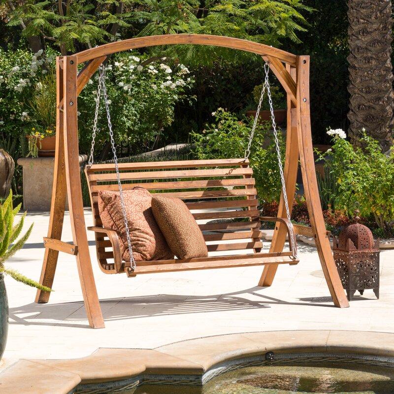 Bracciano Porch Swing with Stand Home Loft
