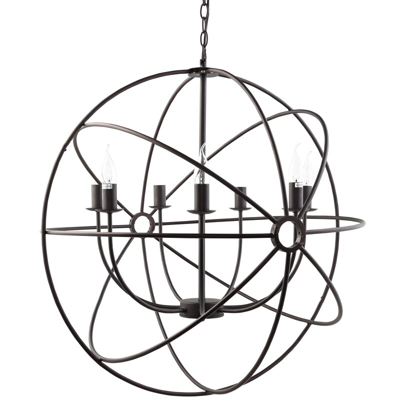 Geyer 7 Light Globe Chandelier Reviews