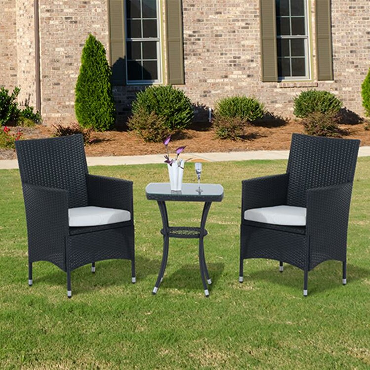 Bistro Set outsunny 2 seater bistro set with cushions reviews wayfair co uk