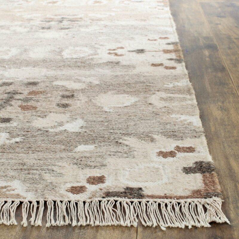 Safavieh Natural Kilim Hand Woven Gray Brown Area Rug