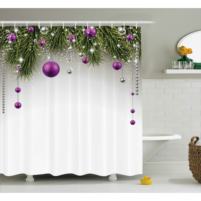 The Holiday Aisle Christmas Tree Decorations Shower Curtain Hooks Reviews