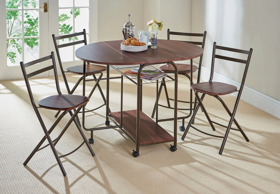 Gablemere Stowaway Dining Table And 4 Chairs & Reviews