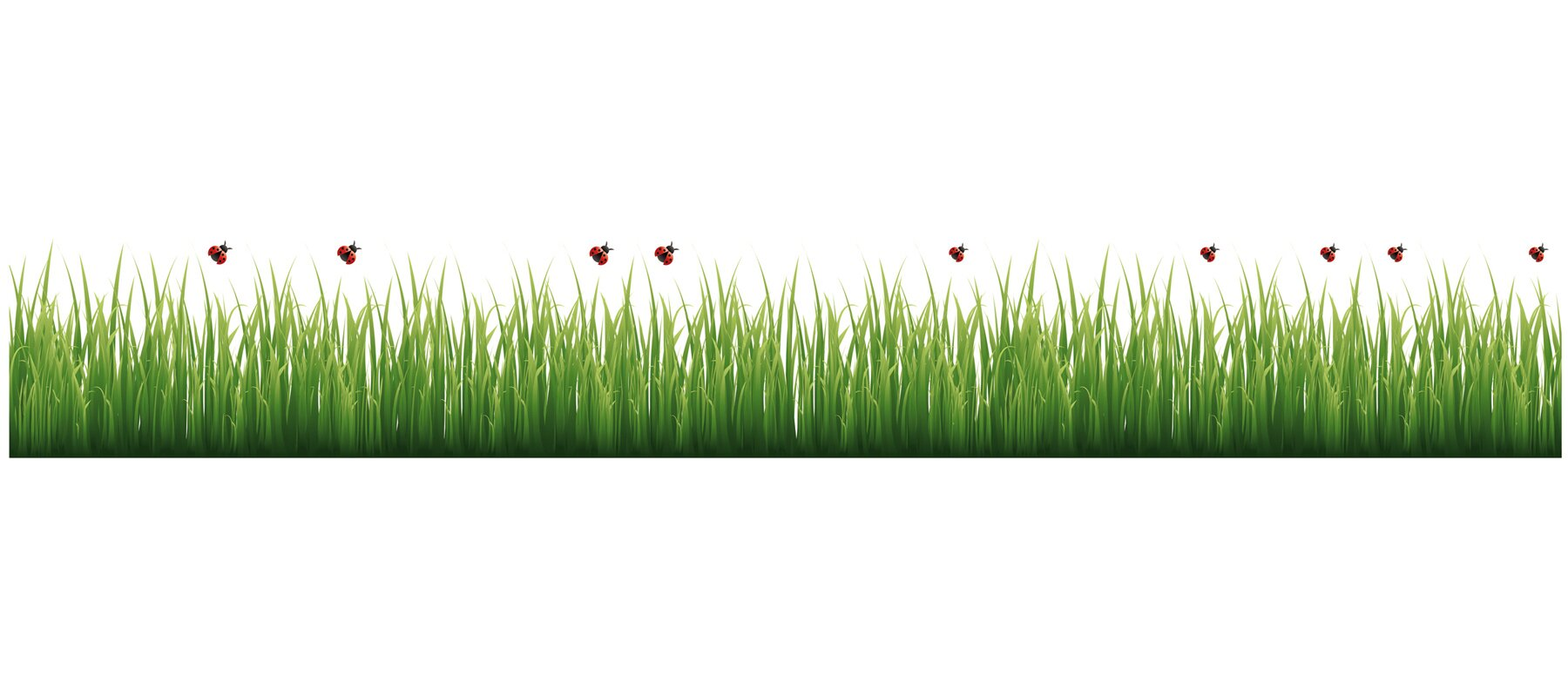 wallpops grass and ladybugs border wall decal reviews wayfair default name
