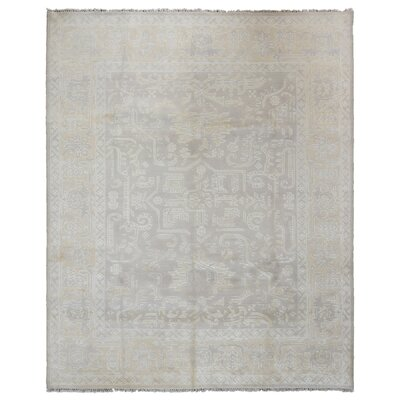 Isabelline One-of-a-Kind Allegany Oriental Hand-Knotted Wool Brown Area Rug