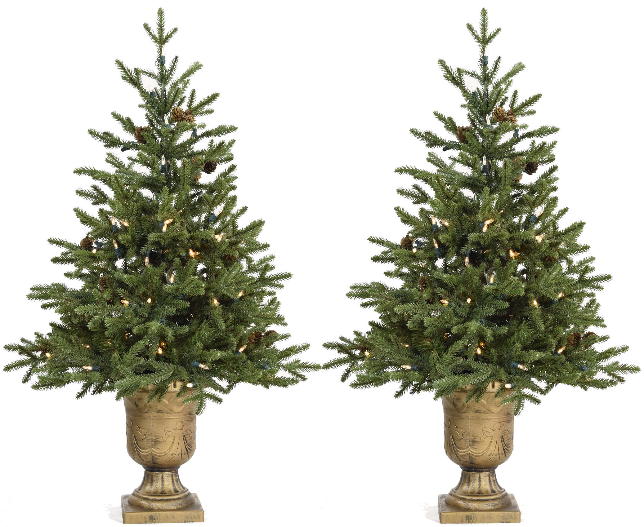 The Holiday Aisle Noble 4.8\' Green Fir Artificial Christmas Tree ...