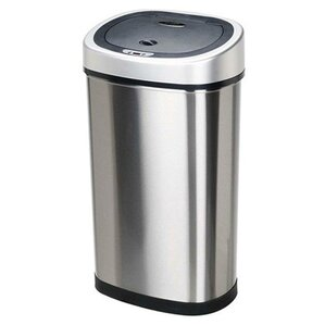 Stainless Steel 13 2 Gallon Motion Sensor Trash Can Cans You ll Love  Wayfair