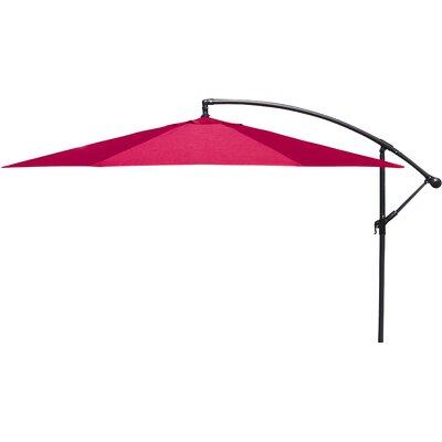 Brayden Studio Trotman 10' Cantilever Umbrella Fabric: Red