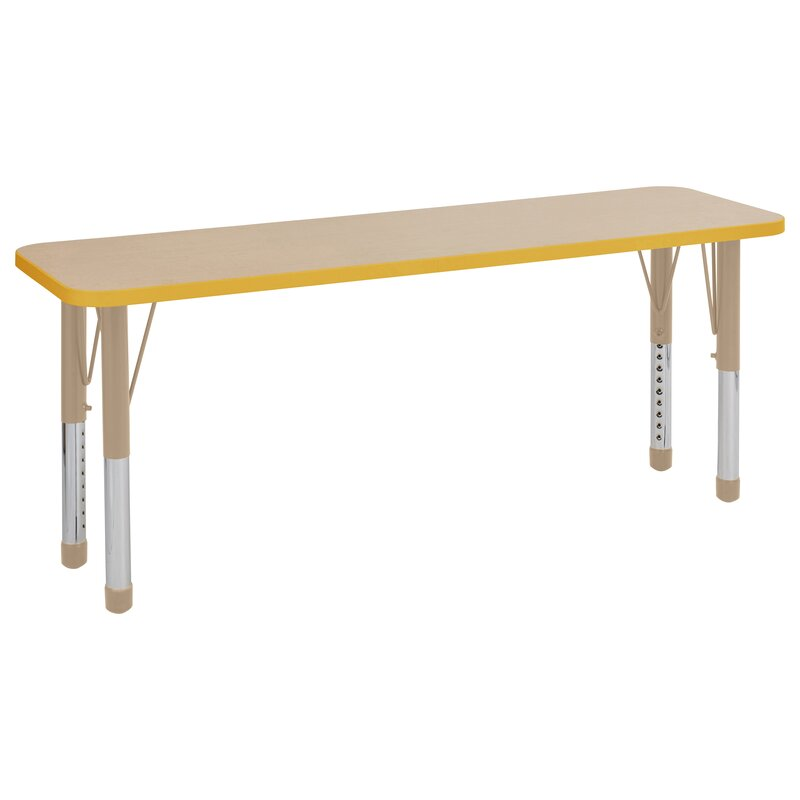 Maple Top Thermo Fused Adjustable Activity Table