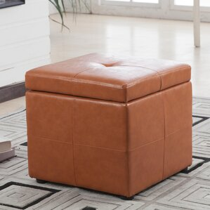 Contemporary Classic Storage Ottoman by Bellasario Collection