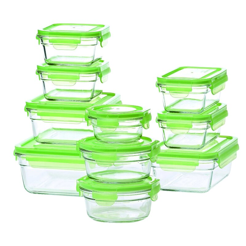 Glasslock Food Storage Container Sets Cool Glasslock Glasslock 60 Container Food Storage Set Reviews Wayfair