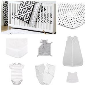 Deco Diamond Essentials 11 Piece Crib Bedding Set