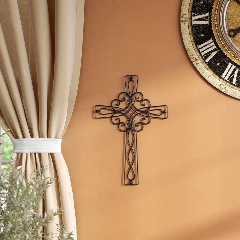 Fleur De Lis Living Modern & Contemporary Metal Wall Cross ...