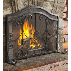 wooden fireplace screen. Single Panel Fireplace Screen Screens  Doors You ll Love Wayfair