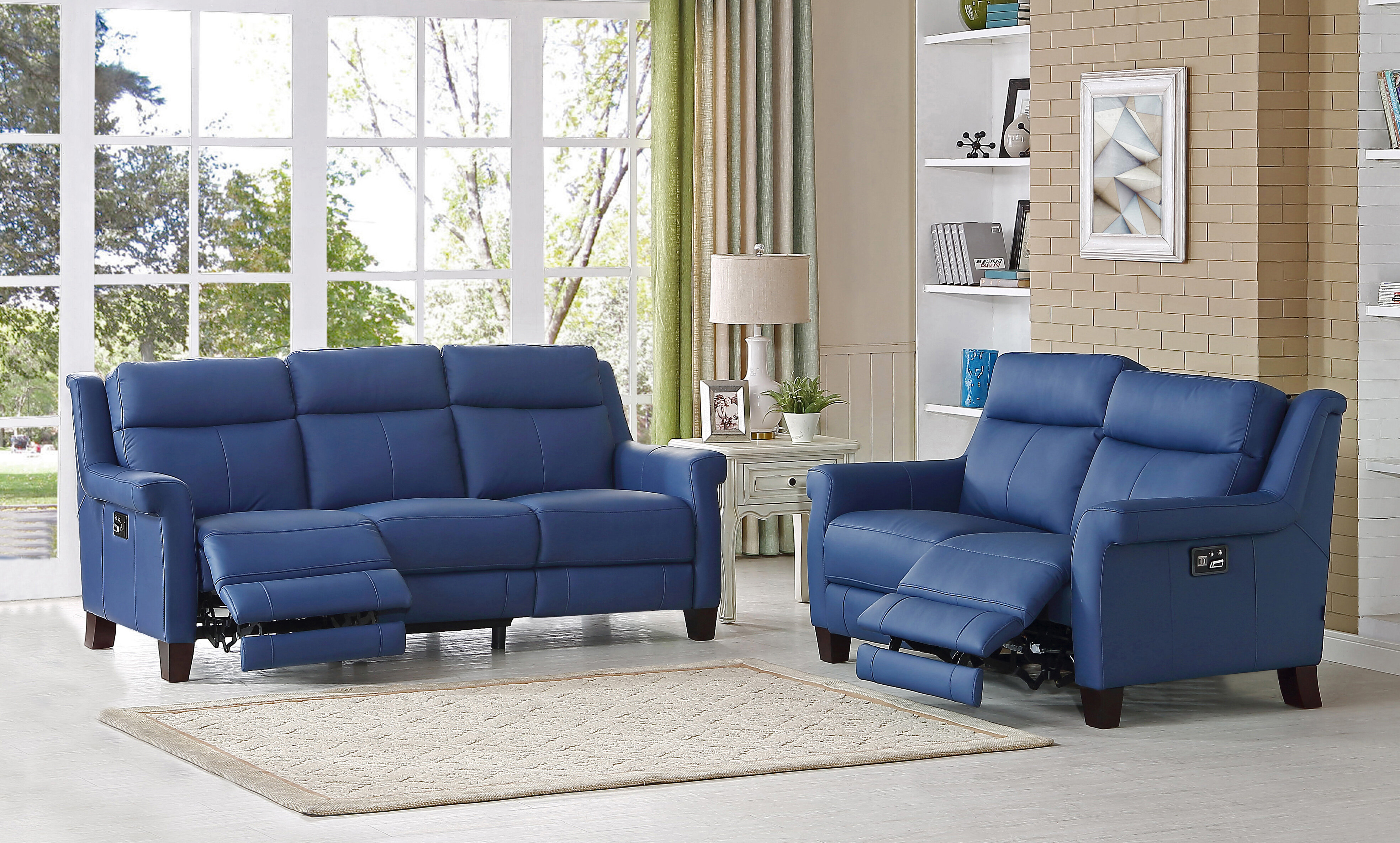 HYDELINEBYAMAX Dolce Leather 2 Piece Living Room Set & Reviews