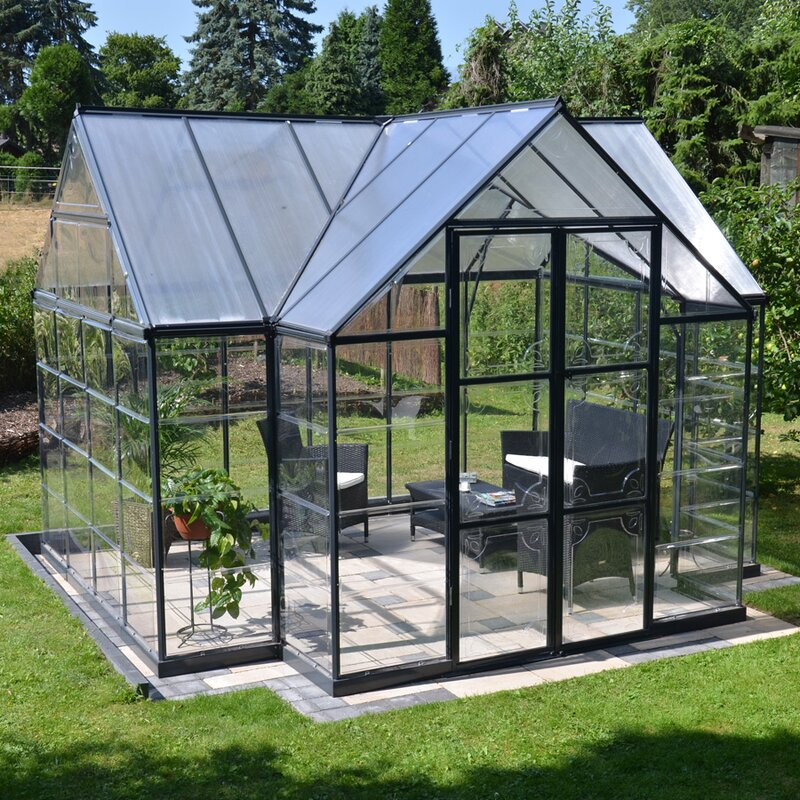 12 X 18 Living Room Ideas: Palram Chalet 12 Ft. W. X 10 Ft. D Greenhouse & Reviews