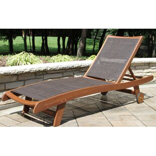 Roseland Sling Eucalyptus Reclining Chaise Lounger Set Of 2