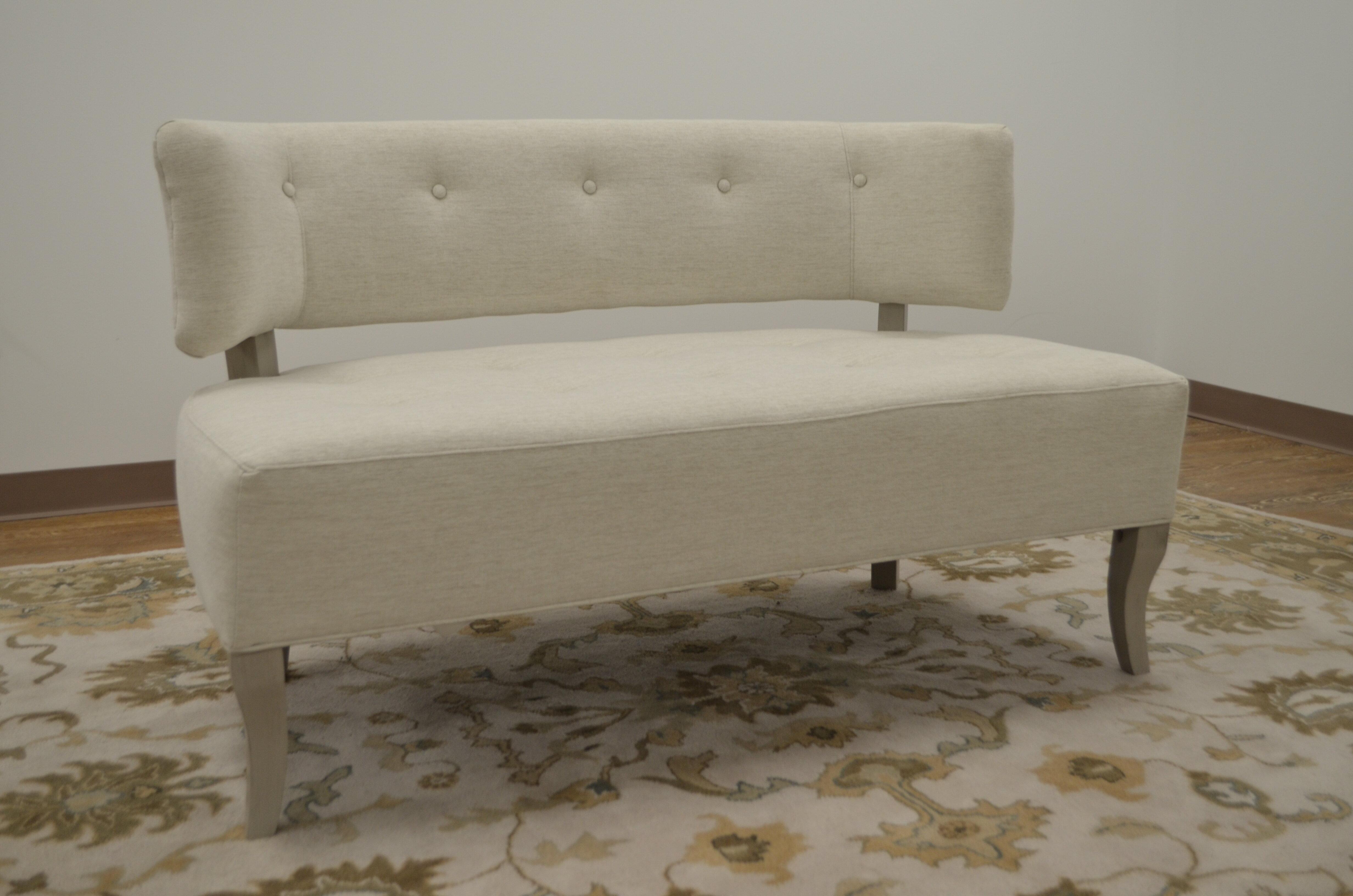 Settee Upholstered Bedroom Bench