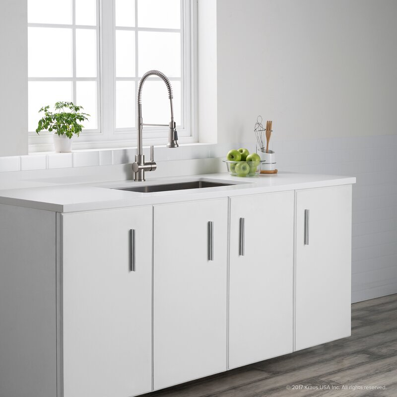 Britt™ Commercial Pull Down Single Handle Kitchen Faucet With Dual Function