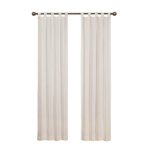 Montana Solid Sheer Tab Top Curtain Panels Set Of 2