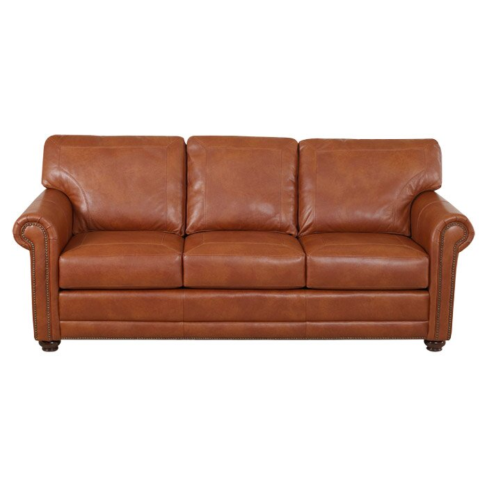 Klaussner Leather Sofa Review: Klaussner Furniture Shelby Leather Sofa & Reviews