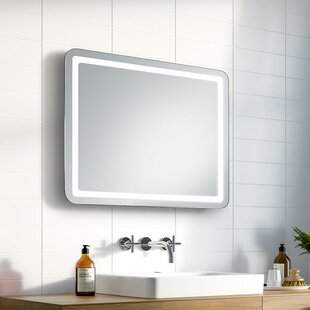 led illuminated frame touch switch bathroom mirror by ruke for sale