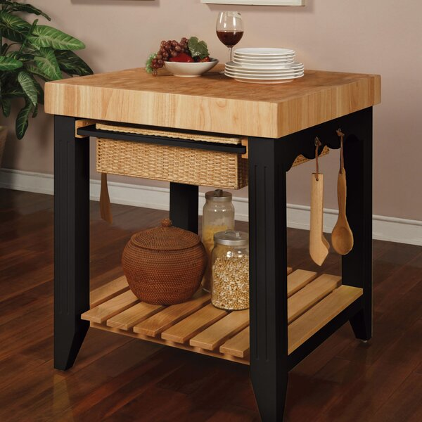 Powell Color Story Prep Table with Butcher Block Top & Reviews | Wayfair - Powell Color Story Prep Table With Butcher Block Top & Reviews