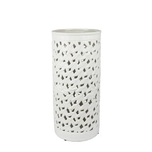 Talia Modern Pierced Ceramic Umbrella Stand