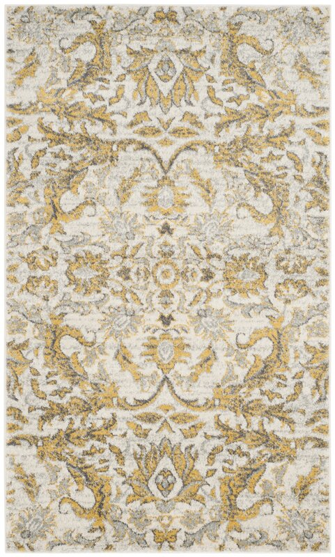 Sagebrush Ivory Gold Area Rug Charlton Home Sagebrush