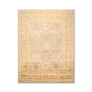 One Of A Kind Joycelyn Traditional Persian Oriental Hand Knotted 8 X 10 Wool Rust Mustard Gray Area Rug