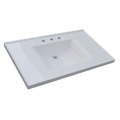 Darby Home Co Griffithville 37 Single Bathroom Vanity Top Vanity Top: Cultured Marble