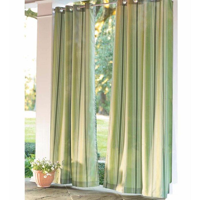 Plow Hearth Indoor Outdoor Single Curtain Panel Wayfair Ca