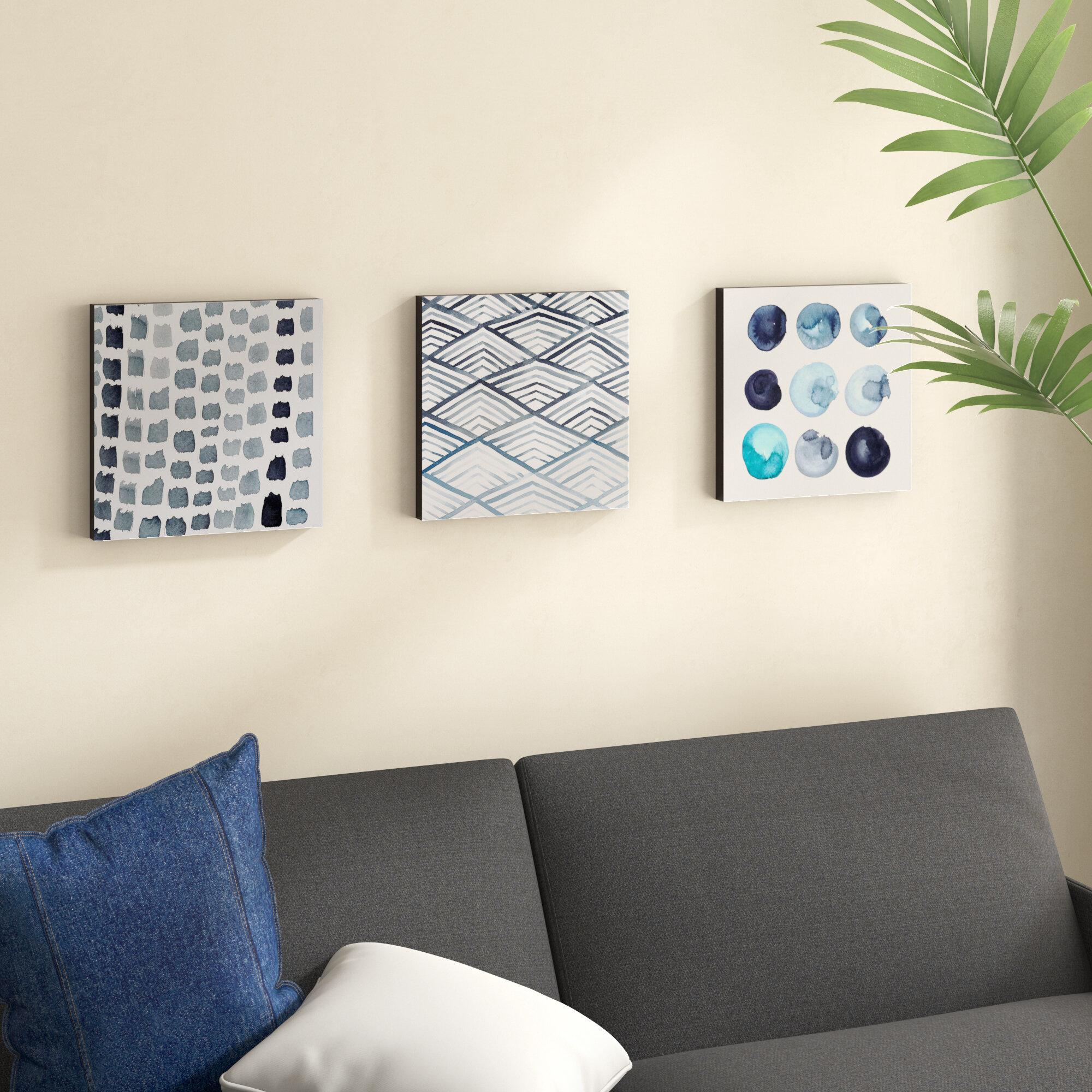 fcf887aae07 Mercury Row  Monochrome Trio  3 Piece Painting Print Set   Reviews ...