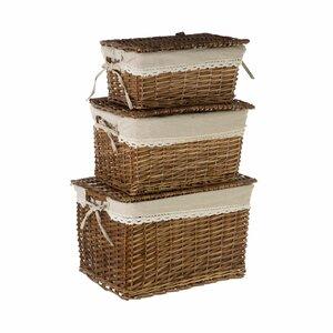 3-tlg. Weidenkorb-Set von Castleton Home