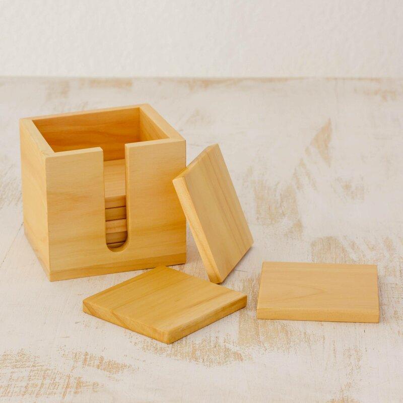 Cypress Aroma Cypress Wood Coaster
