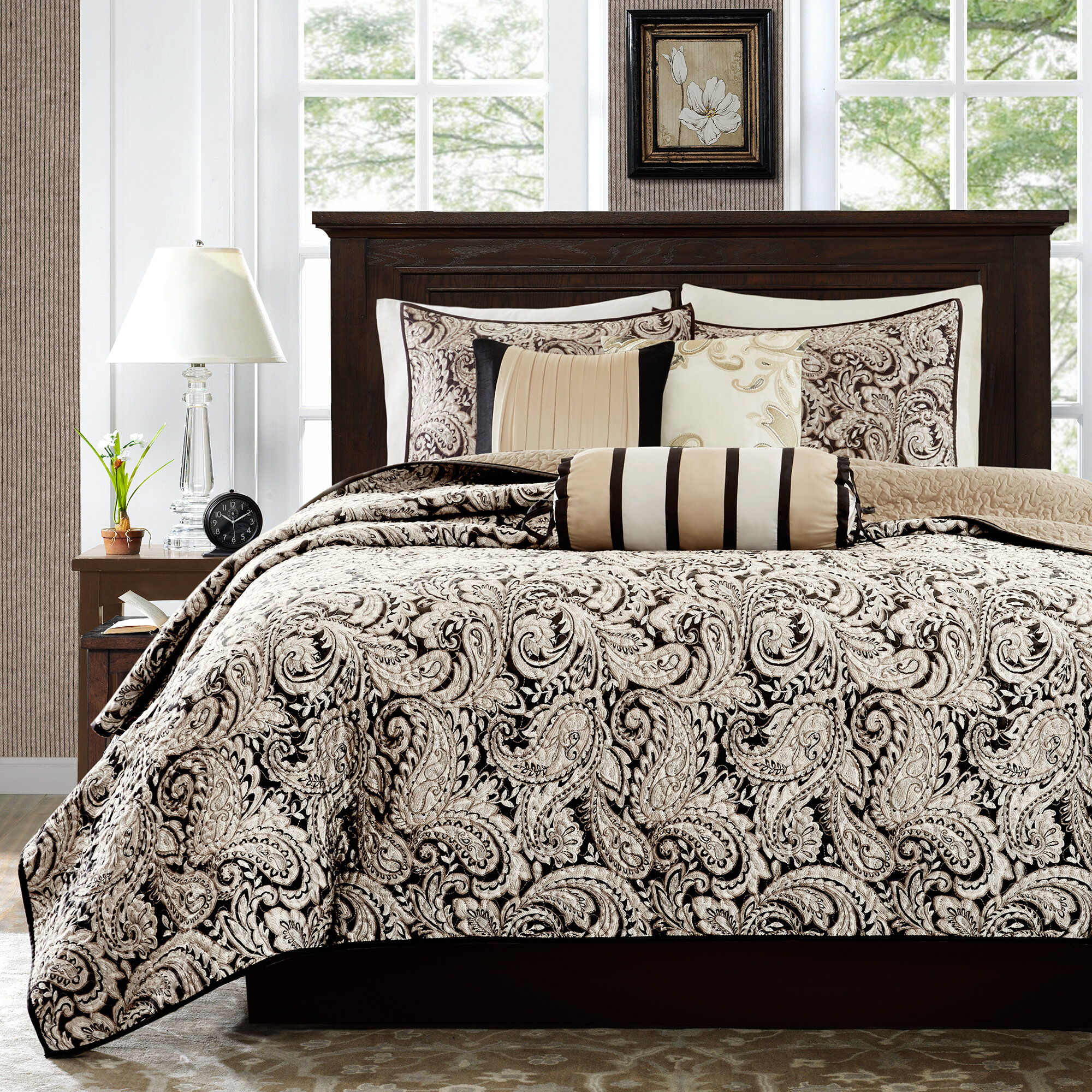product quilt laura bedspread bedding bath quilted today free ashley silky satin overstock shipping
