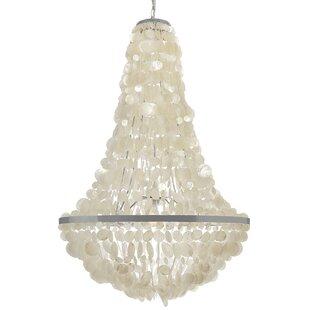 Modern contemporary capiz shell chandelier allmodern manor capiz seashell 3 light chandelier aloadofball Choice Image